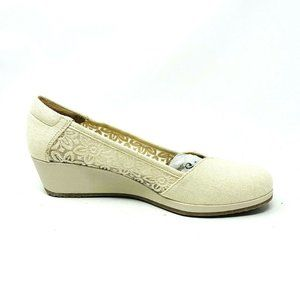 New Naturalizer Womens Bayview Wedge Canvas Ivory